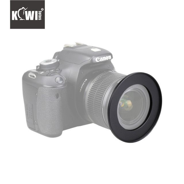 KIWI Camera Metal Adapter Ring LED 24mm 49mm Filters Hoods Flashes Lens Converters Tube for Canon/Nikon/Sony/Fuji/Pentax/Olympus