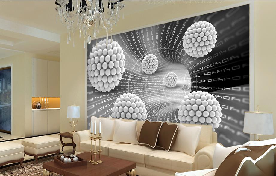 custom wallpaper-roll-size 3d wall murals Round ball abstrac living room mosaic tiles for kitchen backsplash modern wallpaper