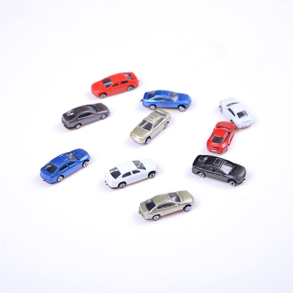10 Pcs Mini Car Models Of Various Brands Of Cars Alloy Car Metal Material Scooter Hornet Mini Golf Laser Wholesale Sales