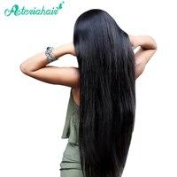 Asteria Hair 1 Piece Straight Hair 1B Natural Black Color Brazilian Real Human Remy Hair Bundles