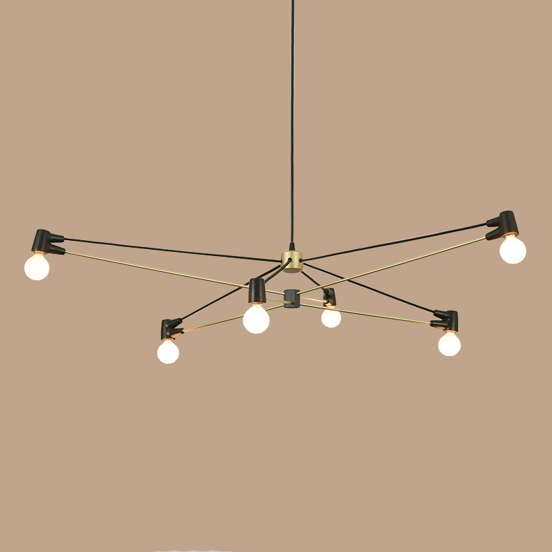 Modern LED Black/Gold Dining Room Pendant Light Minimalist Branch Nordic Lights Bar Cafe Light