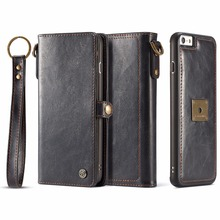CaseMe-(Q) Phone Cases Multifunction Leather Wallet Card Pocket 2 In1 Back Cover Case