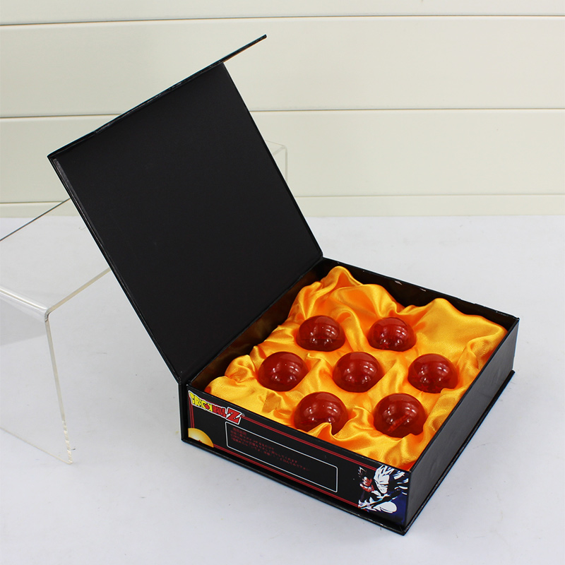 Dragon Ball Crystal Balls 3.5CM Dragon Ball Z New In Box 7 Stars Crystal Balls Set of 7 pcs Complete Set dragon ball z crystal balls 7 5cm 4 5cm 1 2 3 4 5 6 7 star balls classic action figures toys new in gift box