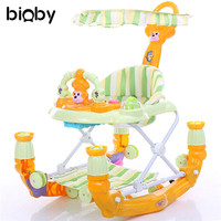 Multifuctional Musical Baby Walker Adjustable Child Walk Learning Vehicle Walkers Infant Shining Stroller Luxury Toddler Seat