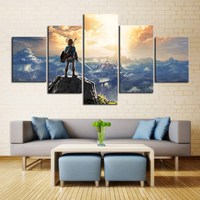 The Legend Of Zelda Breath HD Canvas Prints Of The Wild Game Poster Wall Art Canvas