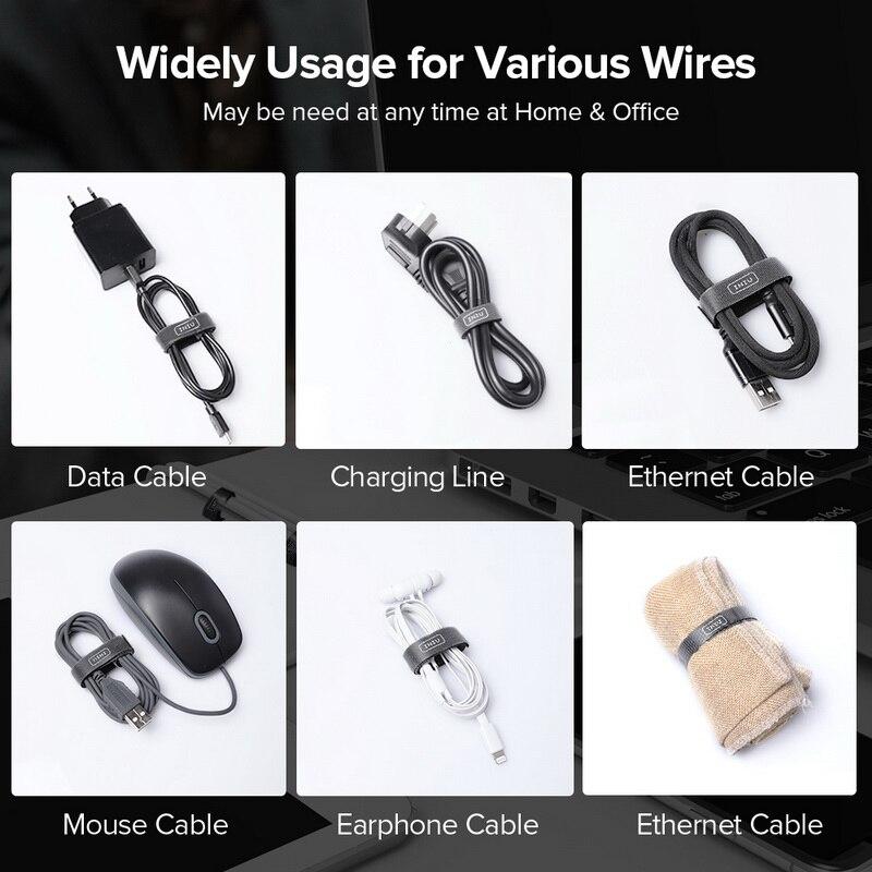 INIU кабельный организатор провода намотки наушников Держатель мышь шнур клип протектор HDMI кабель управление для iPhone samsung usb type C