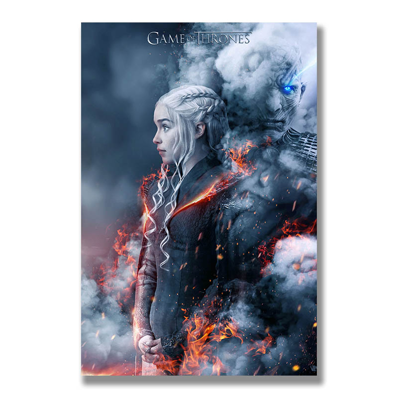 Game of Thrones 8 Poster Wall Art Canvas Print Painting 30x45 50x75cm Decoration Picture Wallpaper Living Room Decor Daenerys(China)