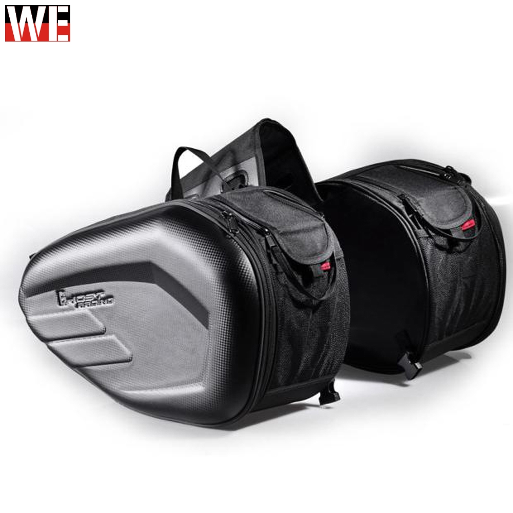 58L Waterproof One Set Motorcycle Saddlebag Universal Moto Riding Knight Helmet Bag Tail Luggage Suitcase for Suzuki Kawasaki