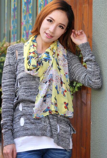 30 Styles Summer Beach Care Fashion Silk Girl Women Scarf Shawl Long Wrap Scaves Women  New Chiffon Shawl 1pcs/lot SW45
