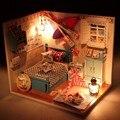 Новое поступление Hoomeda летний роман DIY дерево кукольный миниатюрный симпатичные куклы наборы игрушки с из светодиодов мебель девушки подарок 1 шт.