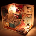 New Arrival Hoomeda Summer Romance DIY Wood Dollhouse Miniature Cute Doll Kits Toys With LED Furniture Cover Girls Gift 1pcs