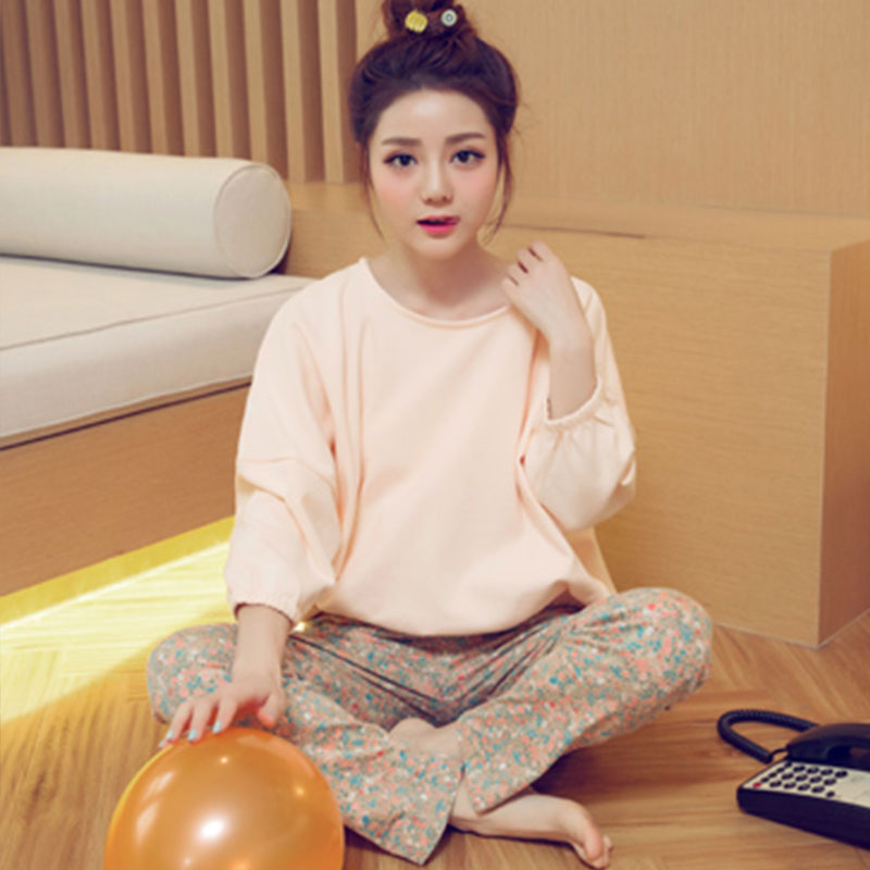 Women Pajamas Sets 2018 Autumn Long Sleeve Thin Print Cute Sleepwear Big Girl Pijamas Mujer casual homewear Student Pajama Set