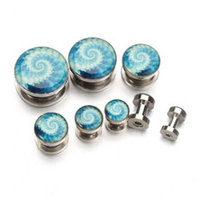 2pcs Trendy Ear Plugs And Tunnels Flesh Fashion Women Men Stainless Steel Piercing Ear Tunnel Expanders Rings Body Jewelry