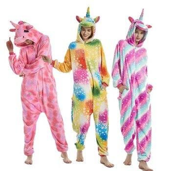 a9521e5f4d Nuevo invierno Animal Kigurumi Onesie adultos pijamas de las mujeres de  unicornio mono con capucha de franela Homewear salón Pikachu