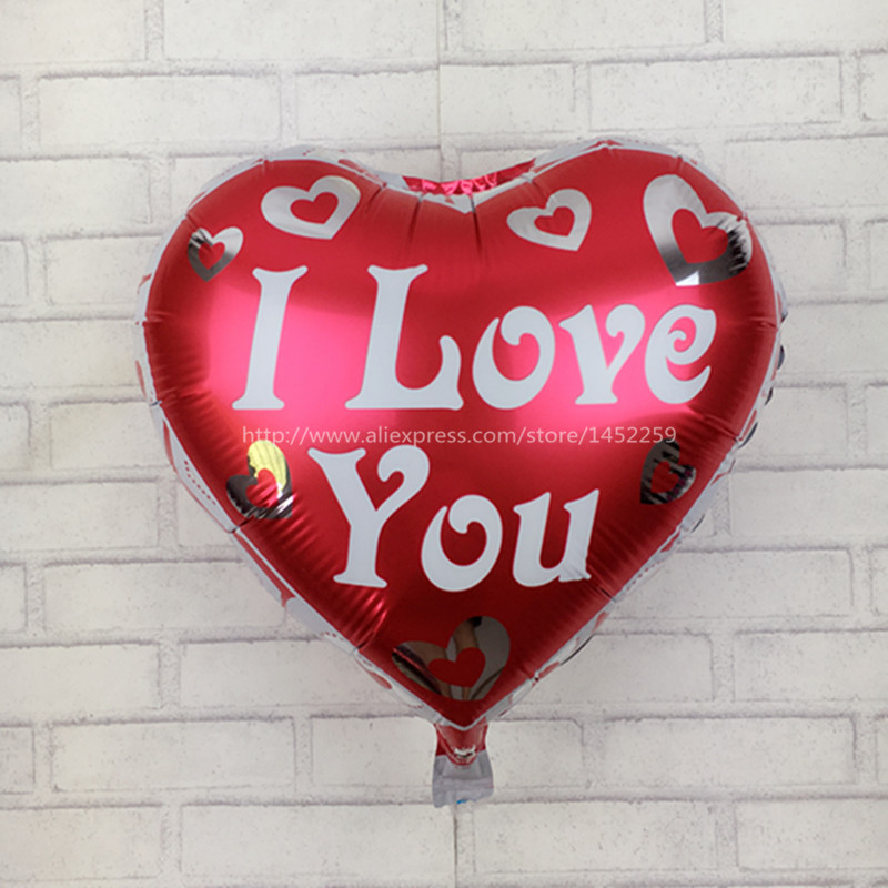 XXPWJ Free Shipping I Loveyou Shaped Aluminum Balloons Wholesale Childrenu0027s  Birthday Party Decoration Valentine Balloon C 028 In Ballons U0026 Accessories  From ...