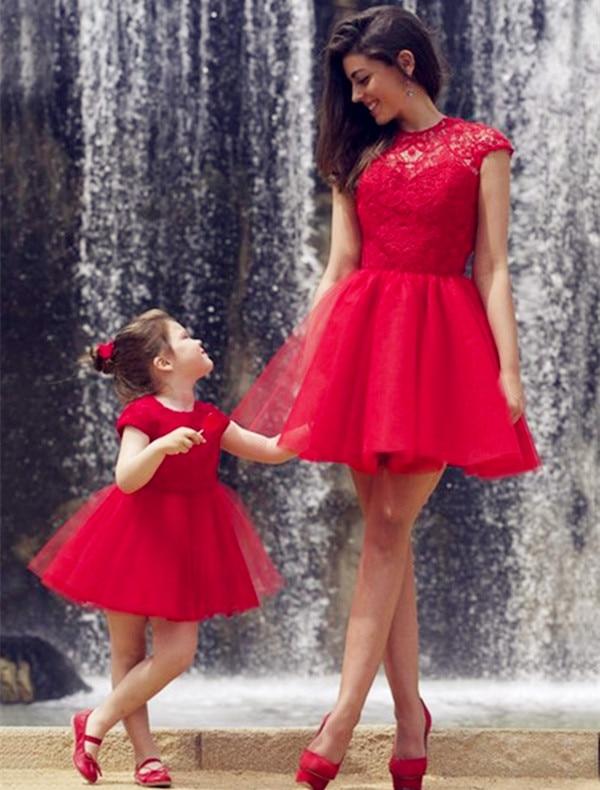 5b38ab170 2016 rojos de la graduación vestidos cortos vestidos fiesta sin mangas  vestido de cóctel del cordón en Vestidos de fiesta de Bodas y eventos en ...