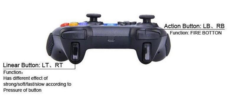 Tronsmart G01 2.4G sem fio game controller gamepad joystick para android Caixa de TV Mini Pc Tablet Telefone Inteligente PC Para PS3 jogos - 4