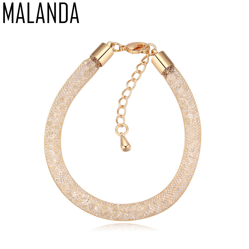 MALANDA New Design Lap Magic Bag Metal Bracelets For Women Real Crystal From Swarovski Fashion Bangle Weddings Jewelry Girl Gift ...