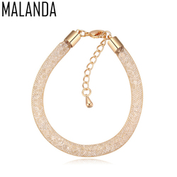 MALANDA New Design Lap Magic Bag Metal Bracelets For Women Real Crystal From Swarovski Fashion Bangle Weddings Jewelry Girl Gift