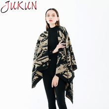 Women Scarf Winter Autumn Scarves Wrap Shawl Thick Warm Color matching ethnic style imitation Cashmere