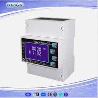 SDM630 Modbus RS485 Din Rail KWH Three Phase Energy Meter 100A Solar PV Energy Meter RTU Digital Meter