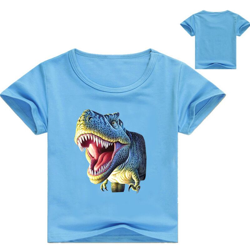 2-12Years Summer 2019 Kids <font><b>Tshirt</b></font> <font><b>Dinosaur</b></font> T Shirt Fille Baby Boy T Shirt Short Sleeve Gourde Enfant Junior Clothes image