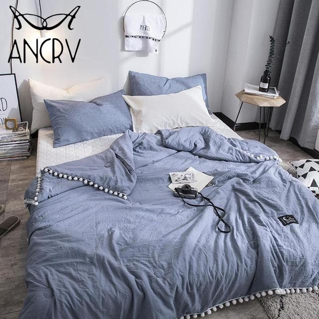 Ancrv Diffe Colors Elegant Style Thin Blanket Quilt Bedspread Comforter Light Weight Bed Cover Quilting