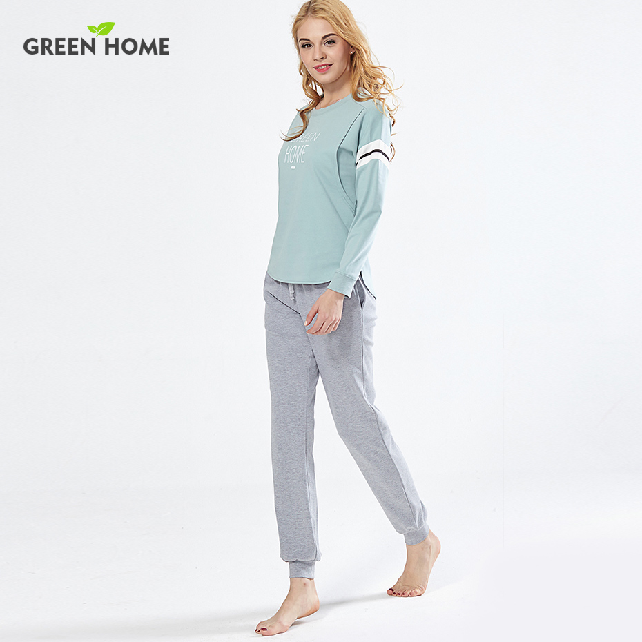 Green Home Penguin Pregnancy Pajamas Set Clothes for Pregnant Women Cotton Soft Breastfeeding Pajamas Nursing Home Clothes sexy v neck silk material pajamas set in green