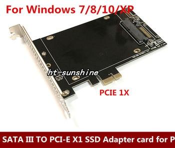 High Speed DEBROGLIE DB-2016 SATA III to PCIe SSD Adapter card SATA III to PCI-E X1 SSD Adapter Card
