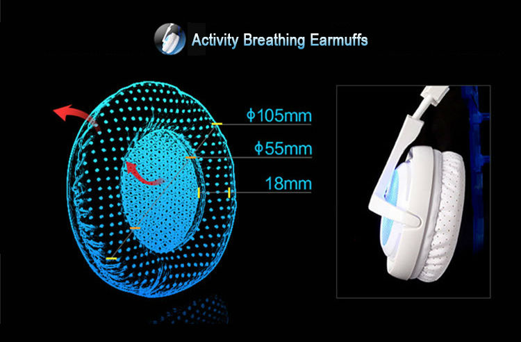 SADES A6 Game headphones 7.1 Surround Sound Professional USB Vibration Wired Mic Over-Ear Gaming Headset