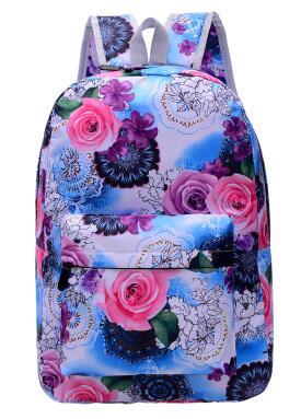 Hot-selling 2017 new Harajuku ulzzang female cute flowers backpack 16 styles mochila men schoolbag women travel shoulder bag