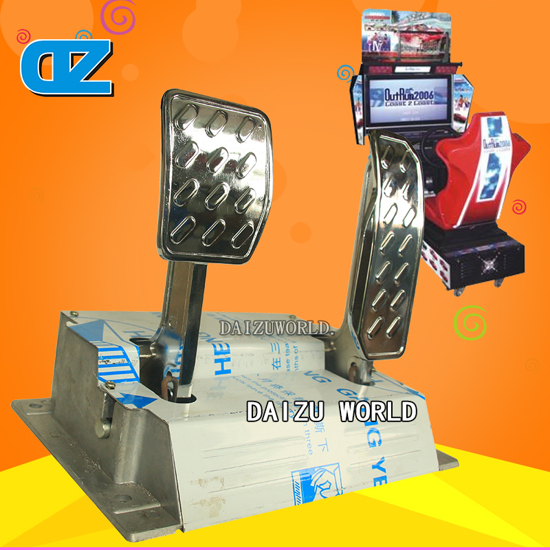 racing machine pedal brake and accelerator/simulator racing machine/arcade racing /coin operated racing machine