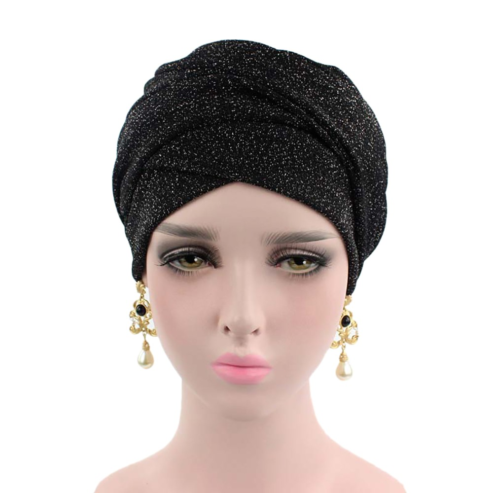 2019 Cotton Women Muslim Stretch Turban Headhat Women Chemo Cap Head Wrap Hat Hair Accessories 3.4