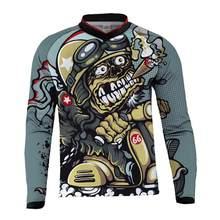 2017 MTB Mountain downhill RC Bike cycling Jersey DH MX RBX cycling racing clothes Off road Motocross Jersey for men long sleeve