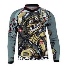 Camiseta de ciclismo de montaña para hombre, ropa de carreras DH MX RBX, camiseta de Motocross todoterreno de manga larga, 2017