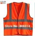 Envío Gratis 100 unids/lote calidad advertencia chaleco de trabajo ropa de trabajo de alta visibilidad de seguridad chaleco reflectante de seguridad