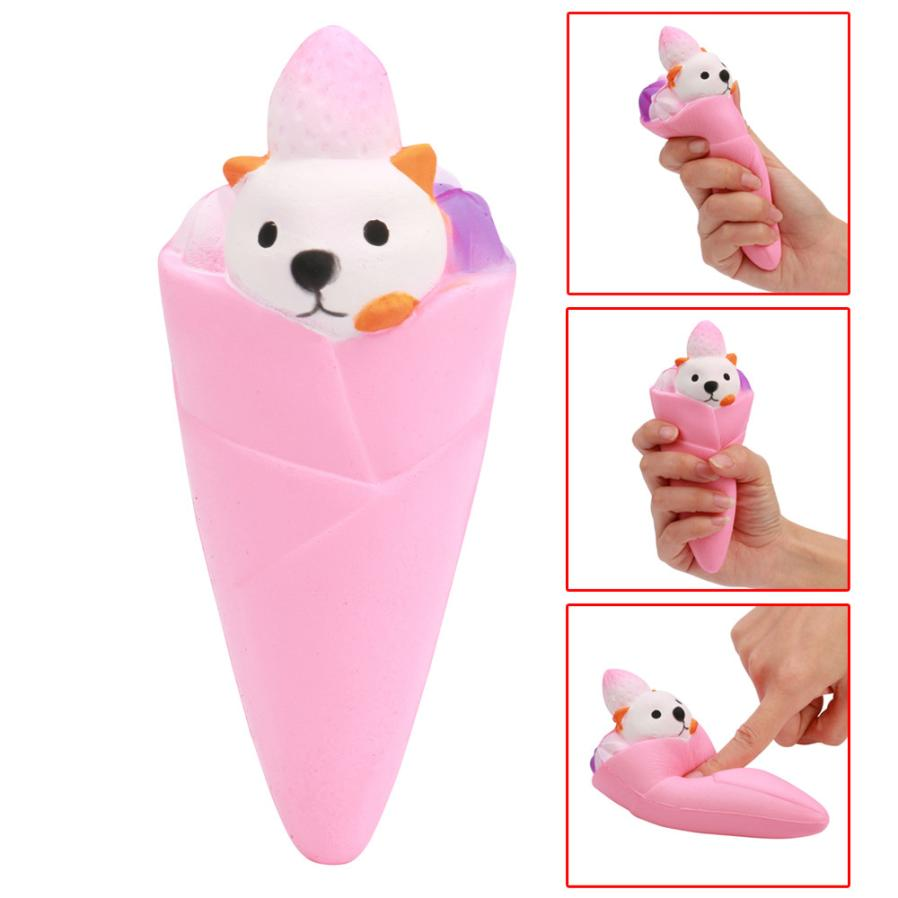 Bear Ice Cream Scented Slow Rising Elastic Environmentally squishy Collection Squeeze Stress Reliever Toy prank oyuncak #15
