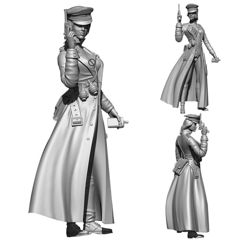 Collection Figure1/<font><b>35</b></font> <font><b>German</b></font> Female Officer <font><b>Resin</b></font> Soldier Super War Figure <font><b>Model</b></font> DIY <font><b>Model</b></font> High Quality image