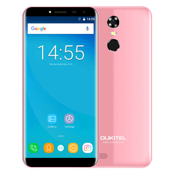 OUKITEL C8 Original 3G Phablet 5.5 Inch Arc Screen Android 7.0 MTK6580A Quad Core 16GB ROM Fingerprint Scanner 8.0MP Rear Camera