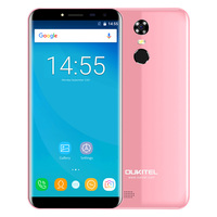 OUKITEL C8 Original 3G Phablet 5.5 Inch Arc Screen Android 7.0 MTK6580A Quad Core 16GB ROM Fingerprint Scanner 8.0MP Rear Camera