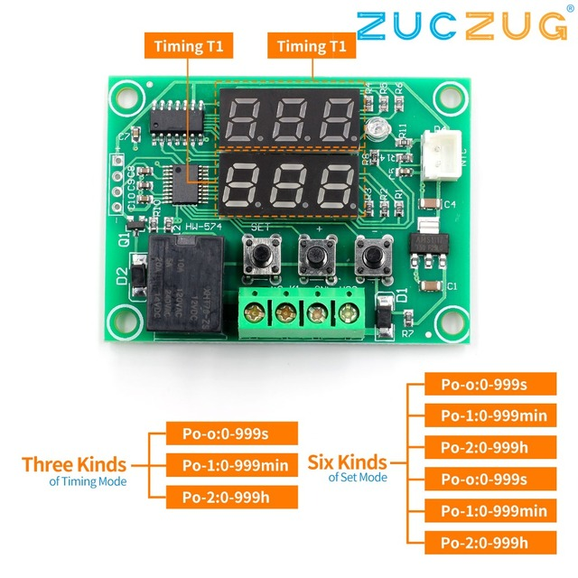 XH W1219 DC 12V Dual LED Digital Display Thermostat Temperature Controller Regulator Switch Control Relay NTC Sensor Module