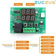 XH W1219 DC 12V 듀얼 LED 디지털 디스플레이 서모 스탯 온도 컨트롤러 레귤레이터 스위치 제어 릴레이 NTC 센서 모듈