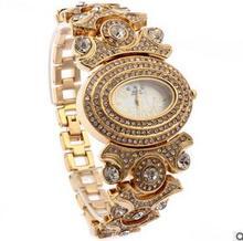 G & D con una sola cadena oval diamond ladies relojes de moda Señorita