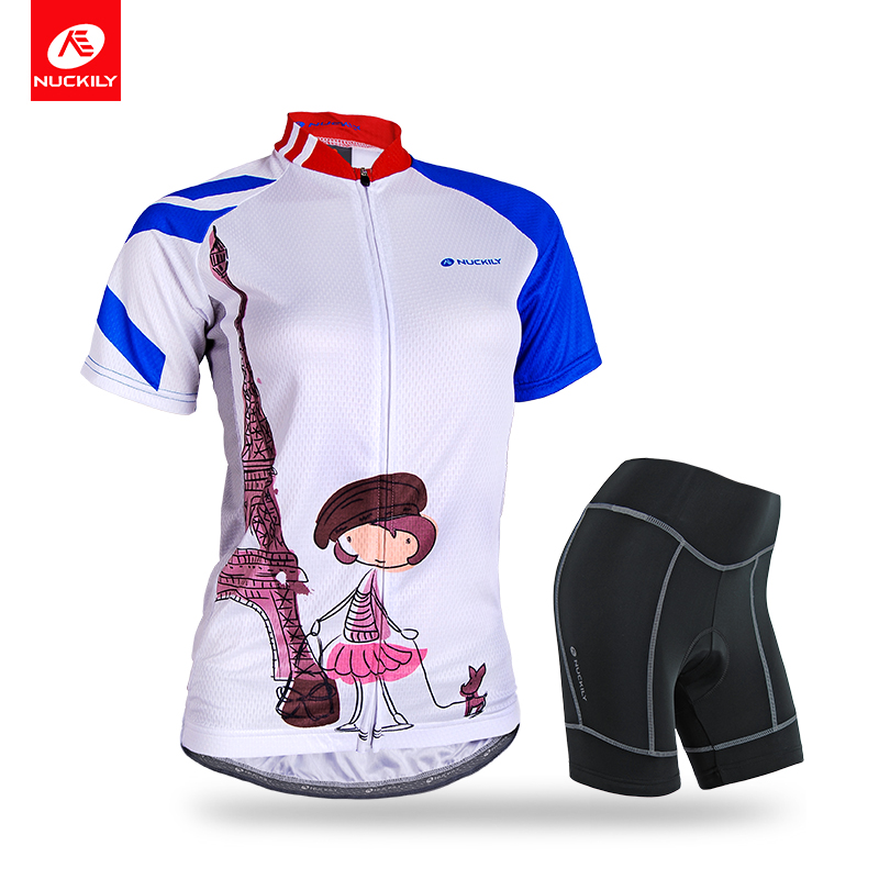 NUCKILY Summer Women s Cycling Jersey Set Comfortable Bicycle Clothing With Foam Pad Shorts NJ515NS359