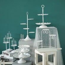 SWEETGO металлическая железная подставка для кексов, 1 шт., розничная, десертные подносы, тарелка для дома, свадебная витрина, украшения, аксессуары, инструменты для торта