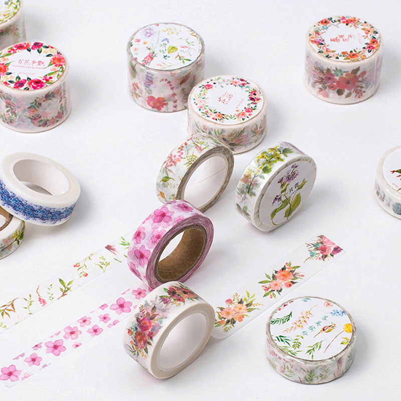 1x twilight flower series washi tape children diy album diary decoration masking tape stationery. Black Bedroom Furniture Sets. Home Design Ideas