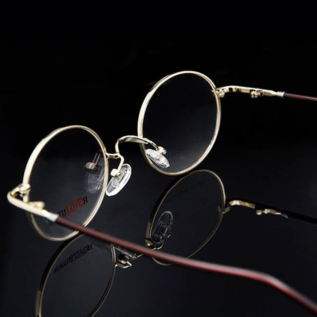 97ec1a7435 ESNBIE Vintage Eyeglasses Men Small Round Metal Eye Glasses Frames for Women  Optical Glass Prescription Eyewear