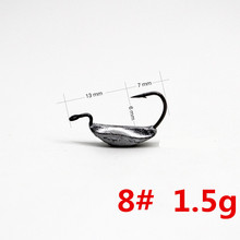 Fishing hook 10pcs/lot 4#  6# 8# jig head hooks lead crank for Soft Worm Bait Crankbait Tackle accessories Pesca