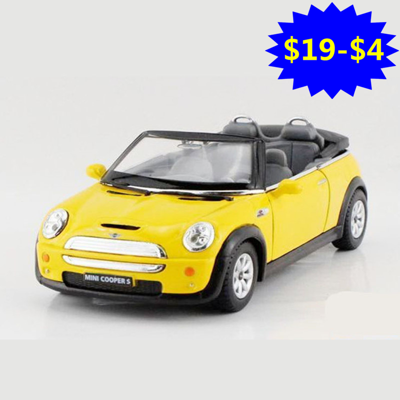 2018 1:28 Mini Convertible Toy, Simulation Alloy Cabriolet Model Car For Collection, Kids Toys, Brinquedos Cars Gift