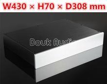 Douk Audio Aluminum Chassis Amplifier Enclosure DAC Decoder Box DIY Preamp House